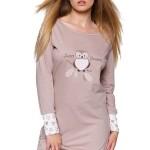 Bavlněná košilka Owlet béžová