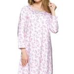 Dámská noční košile Magda růžová květiny