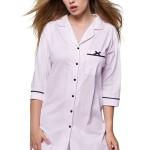 Elegantní noční košile Bianca růžové pruhy