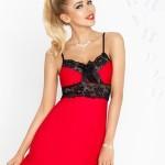 Noční košilka Ines červeno černá – DKaren