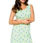 Noční košilka Lauren zelená