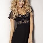 Noční košilka Paulina černá – DKaren
