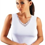Bílá dámská košilka Emili Majka XXL