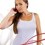 Bílá dámská košilka Emili Mania XXL-XXXL