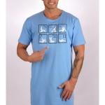 Pánská noční košile s krátkým rukávem Kamasutra