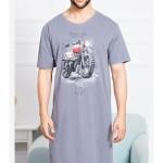 Pánská noční košile s krátkým rukávem Motorka