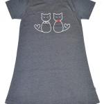 Dámská noční košile Muzzy Kočičky 8351 kr/r S-2XL
