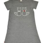Šedá dámská noční košile Muzzy Kočky 8036 S-2XL