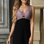 Noční košile Larisa lavender