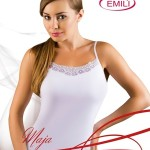Bílá dámská košilka Emili Maja XXL