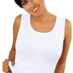 Bílá dámská košilka Emili Michele S-XL