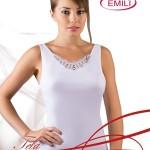 Bílá dámská košilka Emili Tela XXL-XXXL