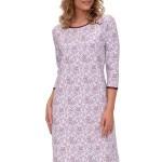 Luxusní dámská noční košile Pavla orientální vzor vínový
