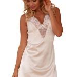 Saténová noční košilka Merida bílá -Kalimo