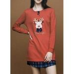 Dámská noční košile LA2010PB červená – Noidinotte