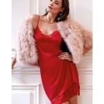 Noční košilka Charm Greta 1045260-349 červená – Janira
