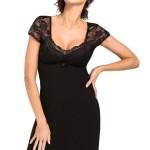 Luxusní dámská noční košilka Brigitte černá