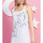 Dámská noční košile na ramínka Koťátka