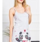 Dámská noční košile na ramínka Panda
