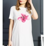 Dámská noční košile s krátkým rukávem Květ