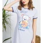 Dámská noční košile s krátkým rukávem Malý méďa