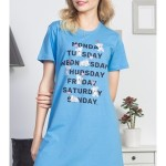 Dámská noční košile s krátkým rukávem Monday