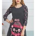Dámská noční košile s tříčtvrtečním rukávem Hug
