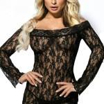 Erotické šaty Ala black