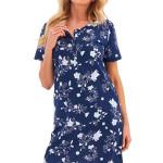 Dámská košilka Rosa tmavě modrá květy