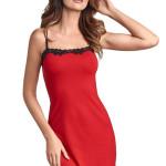 Dámská viskózová košilka Sisi červená