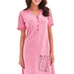 Košilka Loretta růžová s kočkou