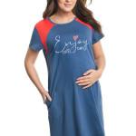 Těhotenská a kojicí noční košile Andrea modrá