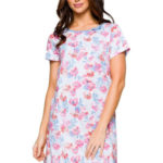Noční košilka Aneta barevné květy