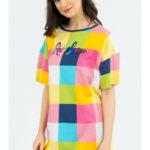 Dámská noční košile s krátkým rukávem Rainbow