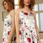 Saténová košilka Karen flowers 5