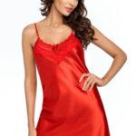 Luxusní saténová košilka Eva červená