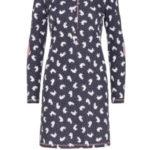 Vamp – Pohodlná dámská noční košile s potiskem lam 13440 – Vamp