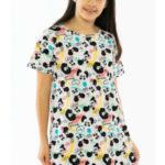 Dětská noční košile s krátkým rukávem Pandy