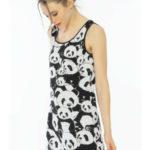 Dámská noční košile na ramínka Pandy – Vienetta
