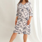 Dlouhá dámská noční košile 2604 MEGAN 2XL-4XL Zima 2021