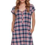 Těhotenská/kojící noční košile Doctor Nap TCB.4361