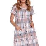Těhotenská/kojící noční košile Doctor Nap TCB.9444
