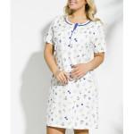 2188 Krátká dámská noční košile FABIA 2XL-4XL – TARO