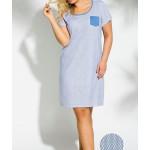 2190 Krátká dámská noční košile LUCY 2XL-3XL – TARO