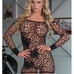 Erotické šaty Sweetheart black