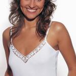 Spodní košilka Violana Olga white – ramínka