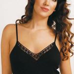 Spodní košilka Violana Olga black – ramínka