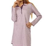 Bavlněná noční košile Beata károvaný vzor