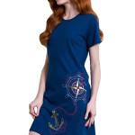 Bavlněná noční košile Inga tmavě modrá