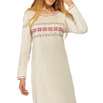 Bavlněná noční košile Laura ecru